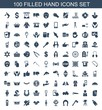 100 hand icons