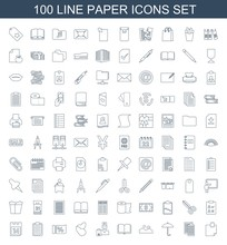 100 Paper Icons