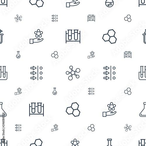 Fotografia  scientific icons pattern seamless white background