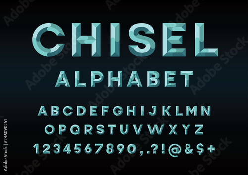 Tablou Canvas chisel style alphabet design