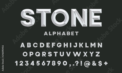 Valokuva  chisel style alphabet design