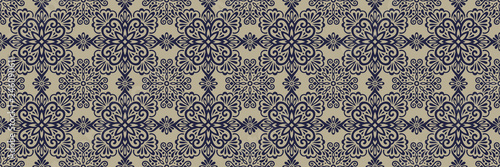 Ethnic style seamless pattern  Azulejo ceramic tile design