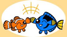 Clown Fish And Blue Tang