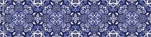 Photo Ethnic style seamless pattern