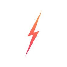 Lightning Bolt Vector Icon Isolated On Background For Energy, Electric Power Logo, Wireless Charging, Ui, Poster, T Shirt. Thunder Symbol. Storm Pictogram. Flash Light Sign. Versus Symbol 10 Eps