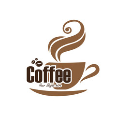 Panel Szklany Kawa vector coffee logo