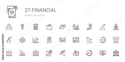 Fotografia  financial icons set