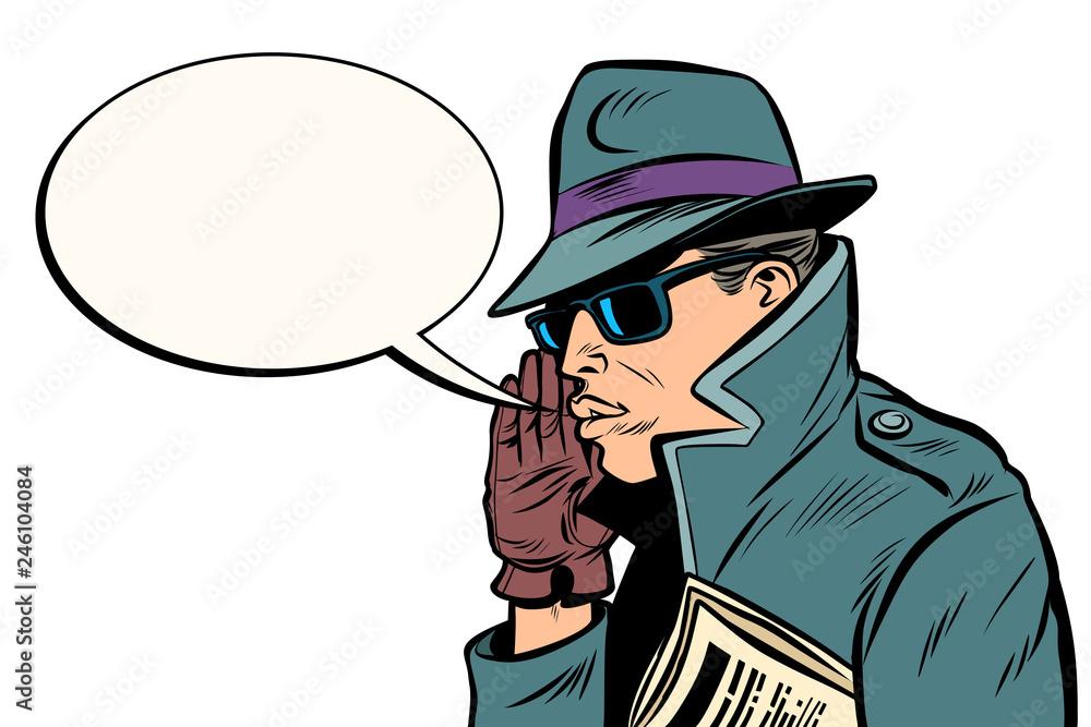 Fototapeta spy secret agent whisper