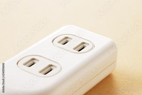 電源タップ multiple socket outlet Canvas Print