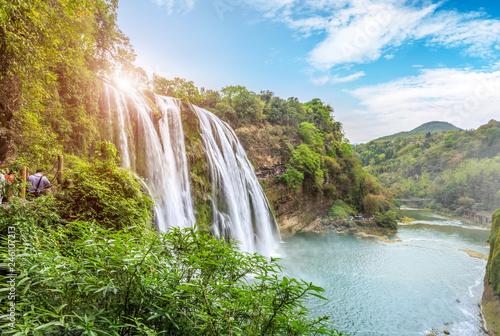Garden Poster Forest river Huangguoshu Falls, Guizhou, China..