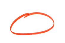 Red Highlighter Circle On White Background.