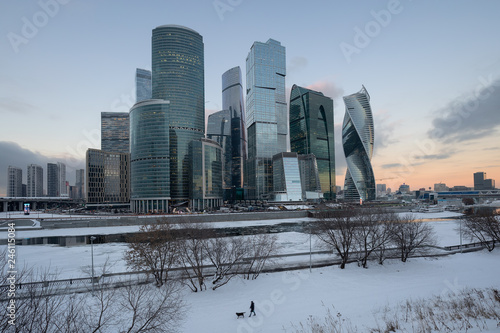 Foto op Canvas Aziatische Plekken Moscow-city (Moscow International Business Center)