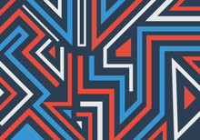 Abstract Graffiti Geometric Shapes And Lines Pattern Background.