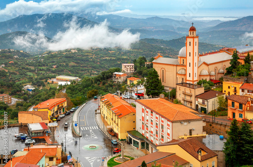 Lanusei town and comune in Sardinia in the Province of Nuoro, Italy Wallpaper Mural