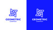 Sqquare Logotype template, positive and negative variant, corporate identity for brands, blue product logo