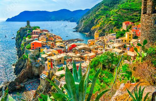 Photo  Vernazza is a small town and comune located in the province of La Spezia, Liguria