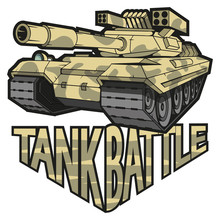 Colored Battle Tank Logo, Vector Graphics To Design