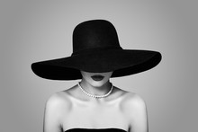 Elegant Woman In Classic Hat, ...