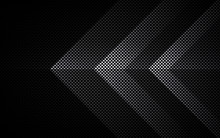 Black Abstract Tech Geometric Background. Line Shape With Light Pattern Composition.