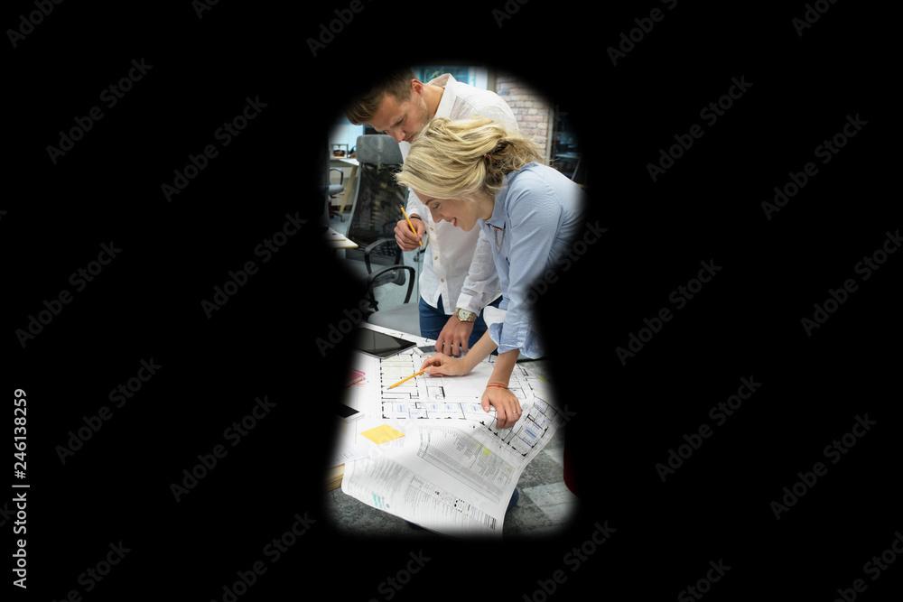 Fototapeta Corporate espionage concept