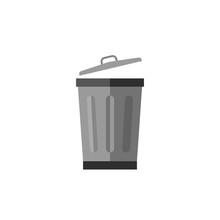 Metalic Trash Can
