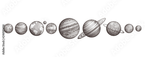 Fototapeta Collection of planets in solar system