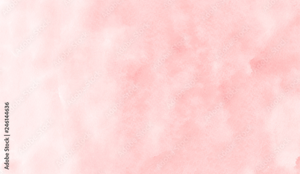 Fototapety, obrazy: Pink watercolor illustration on white paper texture