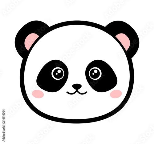 Fototapeta premium Ikona głowy Panda