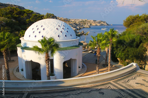Kallithea Springs and thermes in Rhodos , Greece