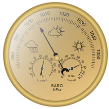 3-in-1 Barometer With Thermome...