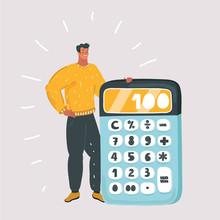 Man With Big Calculator.