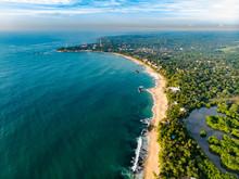 Aerial Tangalle Beach Sri Lank...