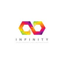 Colorful Infinity Logo - Infinite Hexagon Pixel Vector