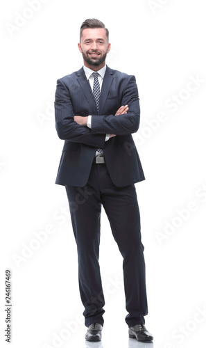 Fotografie, Obraz  in full growth. businessman arms folded