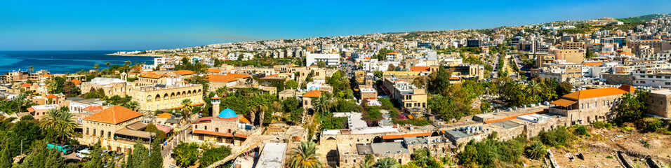 Aerial view of Byblos town in Lebanon