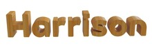 Harrison In 3d Name With Woode...