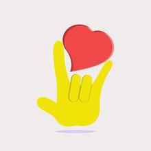 Hand Language, I Love You Grap...