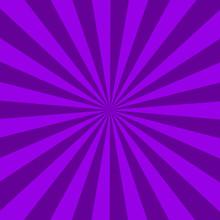 Purple Sunburst Abstract Texture. Purple Shiny Starburst Background. Abstract Sunburst Effect Background. Purple Ray Textures.
