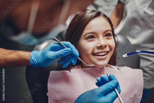 Fotografia  Children in dental clinic