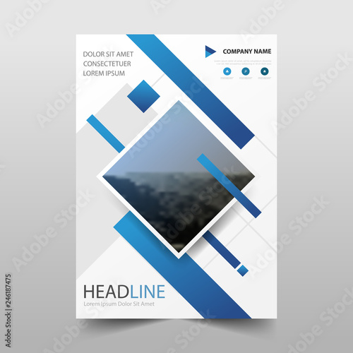 Azure Flyer Template   Blue Vector Business Proposal Leaflet Brochure Flyer Template Design