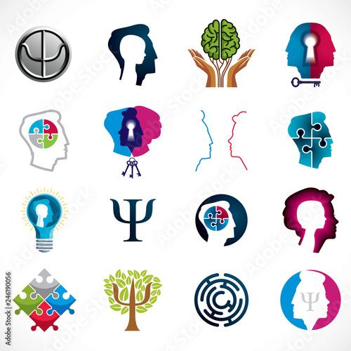 Valokuvatapetti Psychology, human brain, psychoanalysis and psychotherapy, relationship and gender problems, personality and individuality, cerebral neurology, mental health
