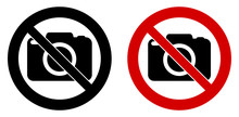 Photography Not Allowed Sign. ...