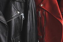 Red And Black Leather Jackets ...