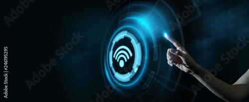 Papiers peints Pays d Afrique Wi Fi wireless concept. Free WiFi network signal technology internet concept