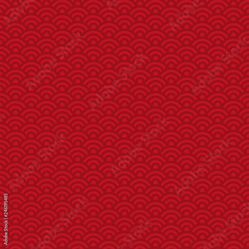 Photo  Lunar New Year Seamless Pattern - Red pattern design for Lunar or Chinese New Ye