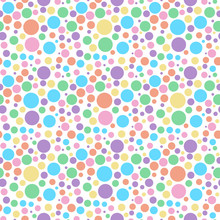 Rainbow Circles Seamless Patte...