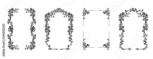 Leinwand Poster Elegant frame of roses