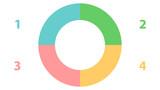 Pie graph vector design. Empty infographic vector template