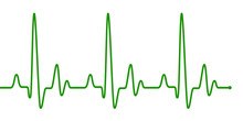 Green Heart Beat Pulse Line On...