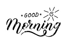 Good Morning Lettering Text Ca...